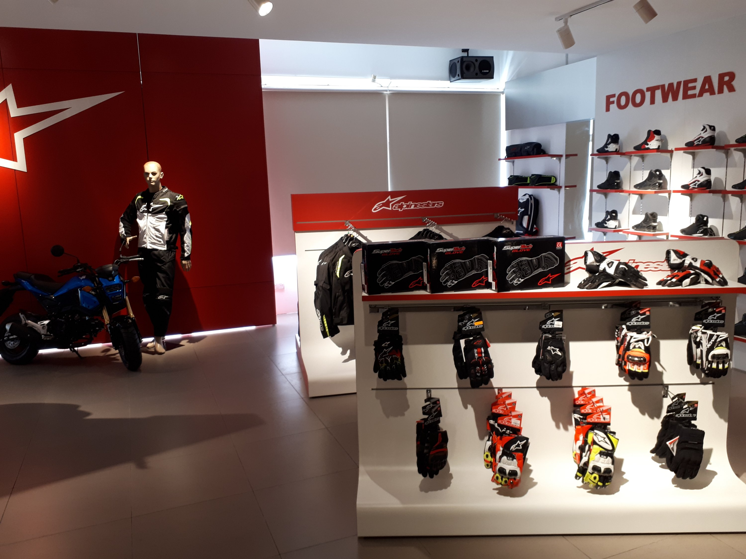 The entire floor has been renovated to a bike apparel showcase, replete  with quality used bikes for sale too; like this Honda Africa Twin and  Suzuki ...