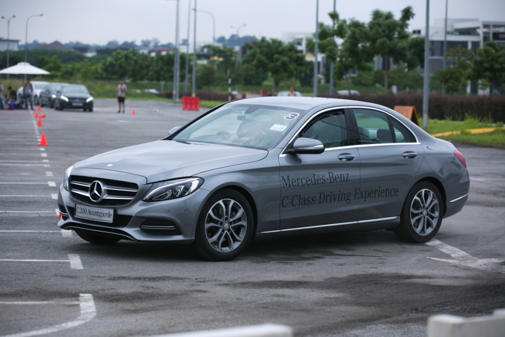 Mercedes-Benz C-Class Driving Experience. Image credit:MBM