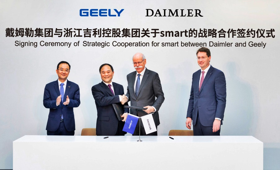 Mercedes-Benz and Geely Holding gründen ein globales Joint Venture zur Weiterentwicklung von smart Daimler and Geely Holding form global joint venture to develop smart