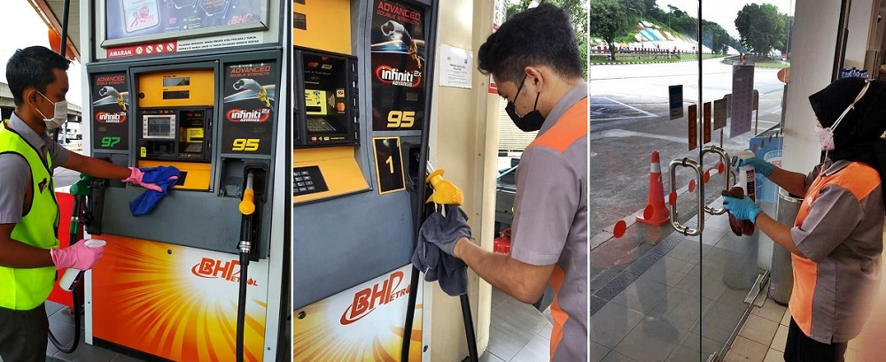 COVID-19 measures at BHPetrol station