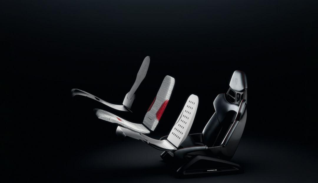 Porsche 3D-pinted seat