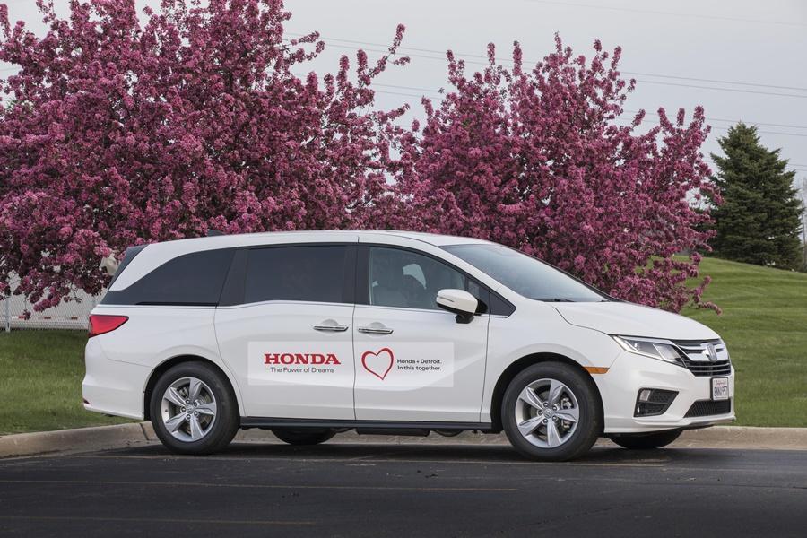 Honda Odyssey COVID-19 transporter