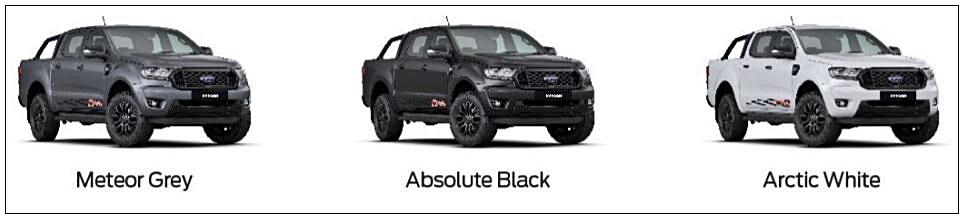 Ford Ranger FX4 colours