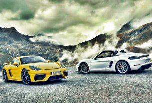 2020 Porsche 718 Cayman GT4 and 718 Spyder