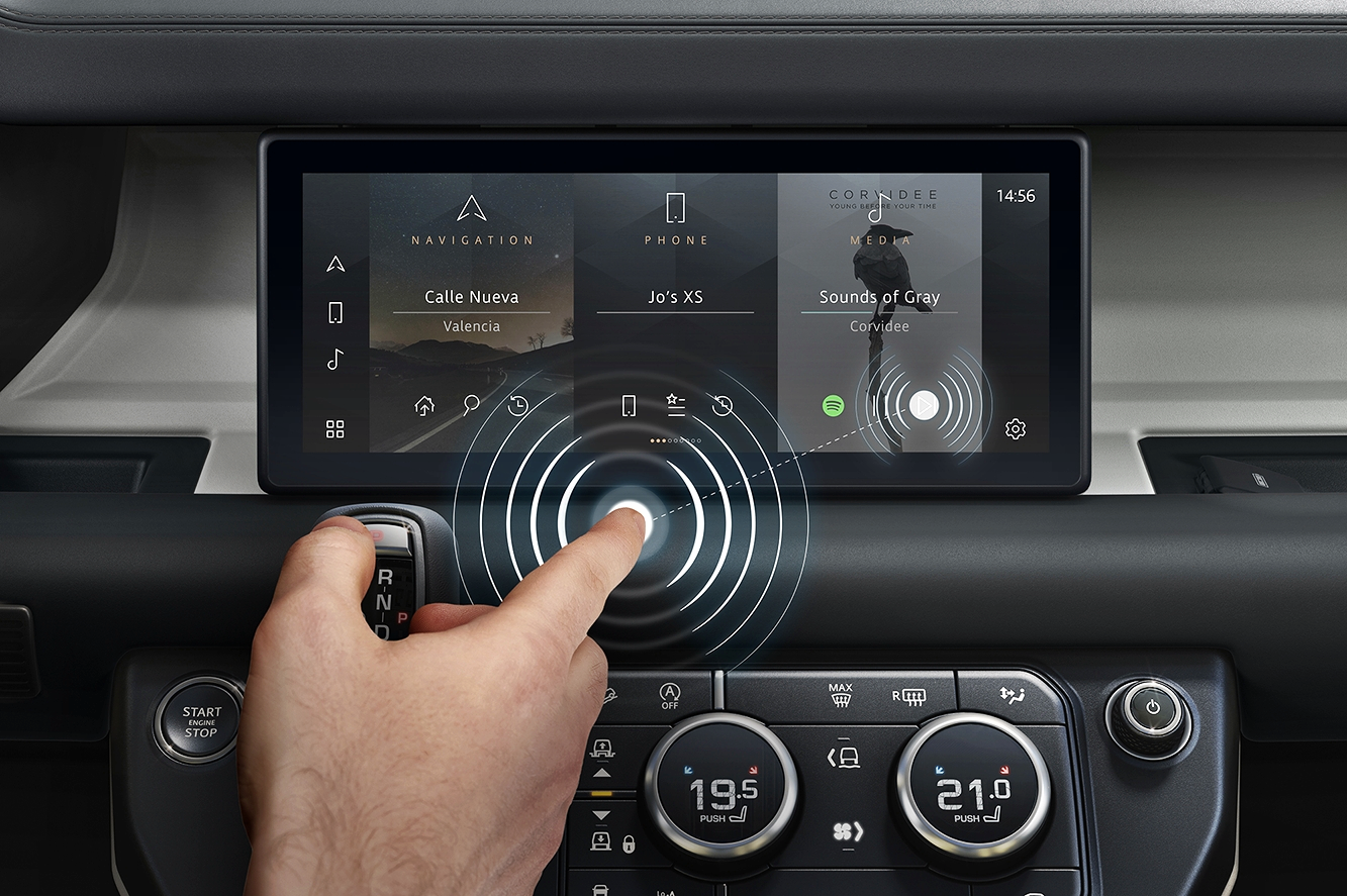 Jaguar Land Rover Predictive Touch Technology