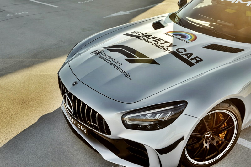 Mercedes-AMG GT R Official FIA F1 Safety Car im neuen Look: Das neue Design des Formel 1 Safety Car setzt Zeichen für Solidarität, Sicherheit und VielfaltMercedes-AMG GT R Official FIA F1 Safety Car with a new look: The new design of the Formula 1 Safe