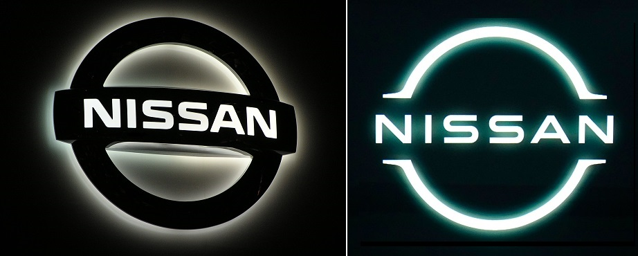 Nissan logo old and new