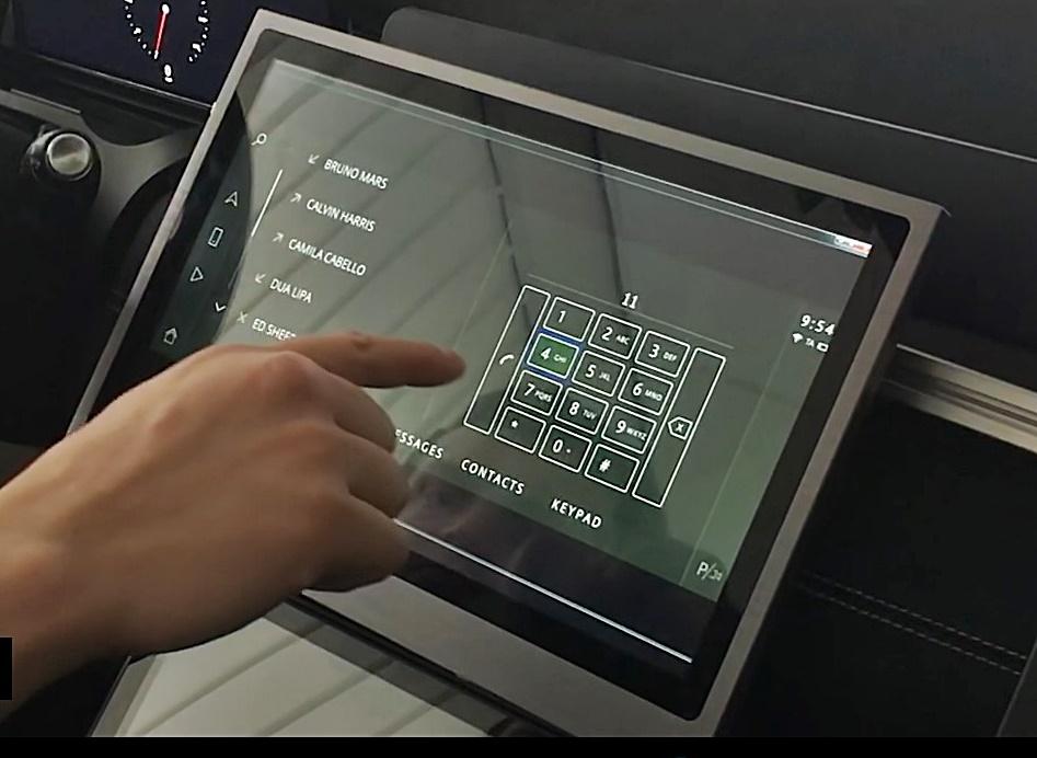 Jaguar Land Rover Predictive Touch Technology