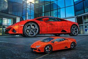 Lamborghini Huracan EVO 3D puzzle car