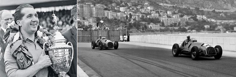 Alberto Ascari Ferrari 1950 Monaco F1 Grand Prix.