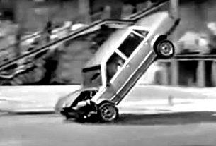 Volvo 1985 760 demo crash test