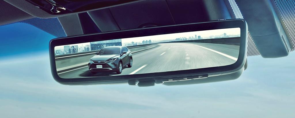 Toyota Digital Rearview Mirror in Toyota Harrier 2021